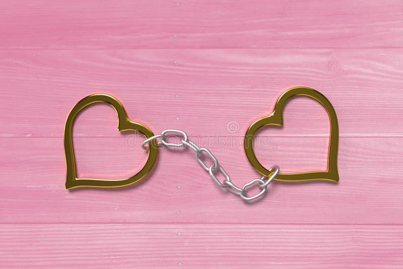 Love handcuffs royalty free illustration