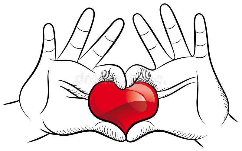 Download Love hands stock vector. Illustration of black, heart - 28653503