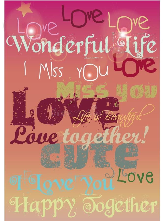 Love Happy royalty free stock image