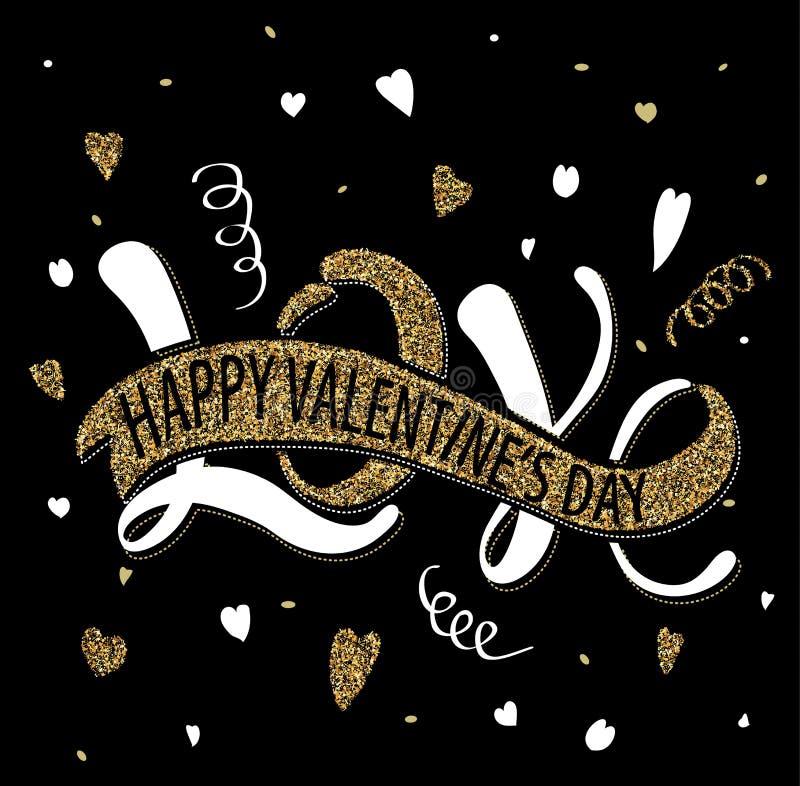Love - Happy Valentine's day greeting card stock illustration