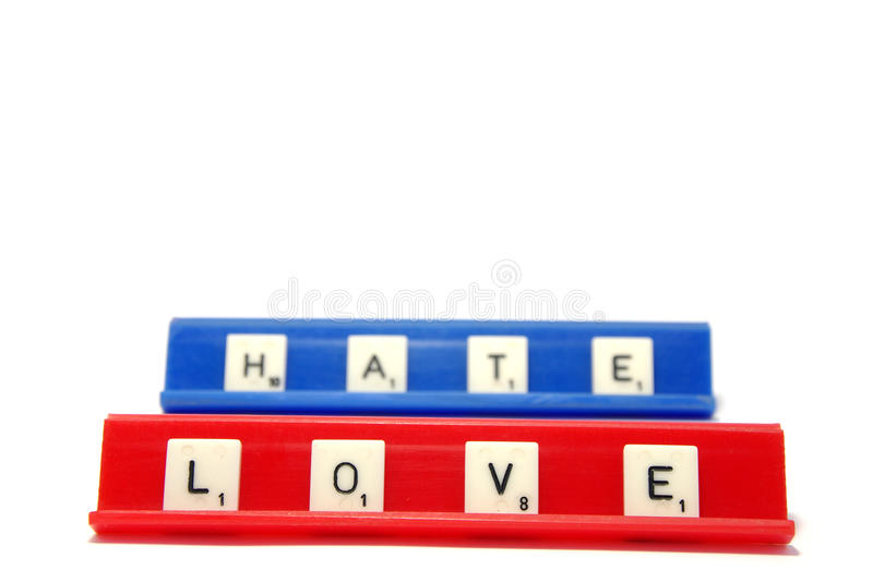 Download LOVE and HATE stock image. Image of background, hate - 12665603