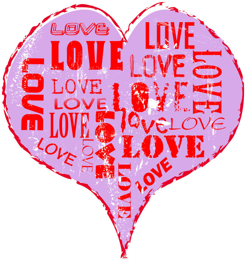 Download Love heart stock vector. Image of paint, drawing, heart - 20117438
