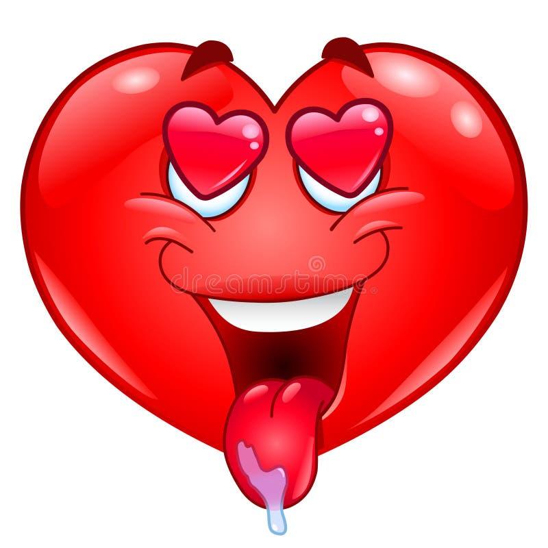 In love heart. Illustration of an in love heart stock illustration