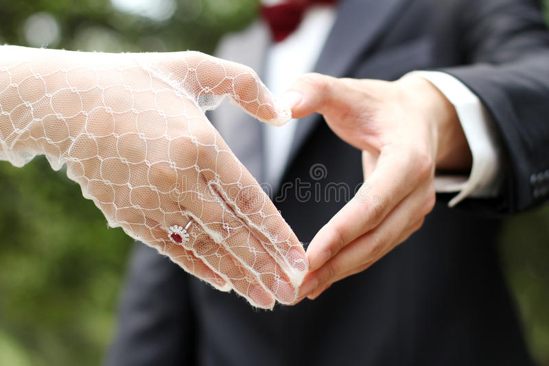 Love in heart. Hands made symbol stock photos