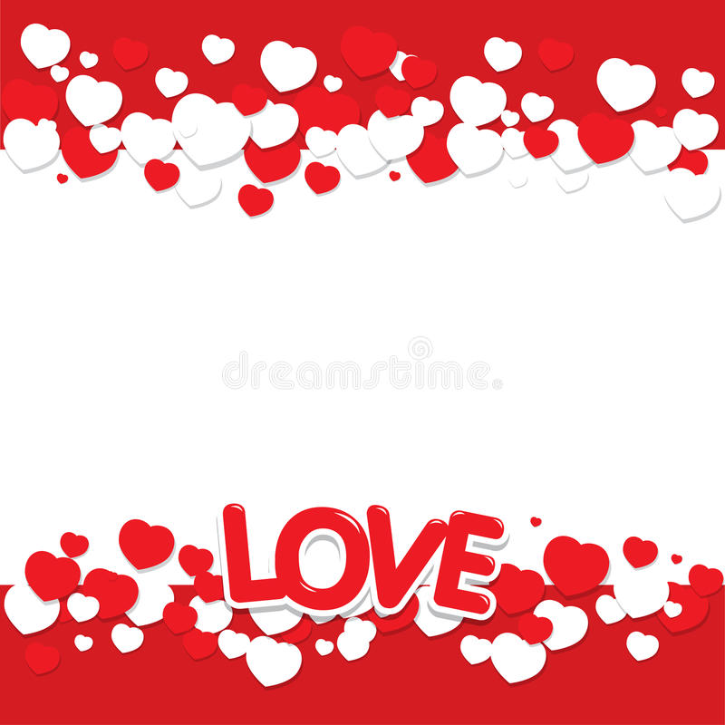 Love with heart royalty free stock photos