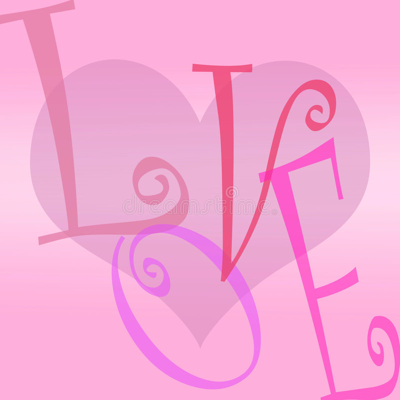 Download Love Heart Background Letters Stock Illustration - Image: 6223457