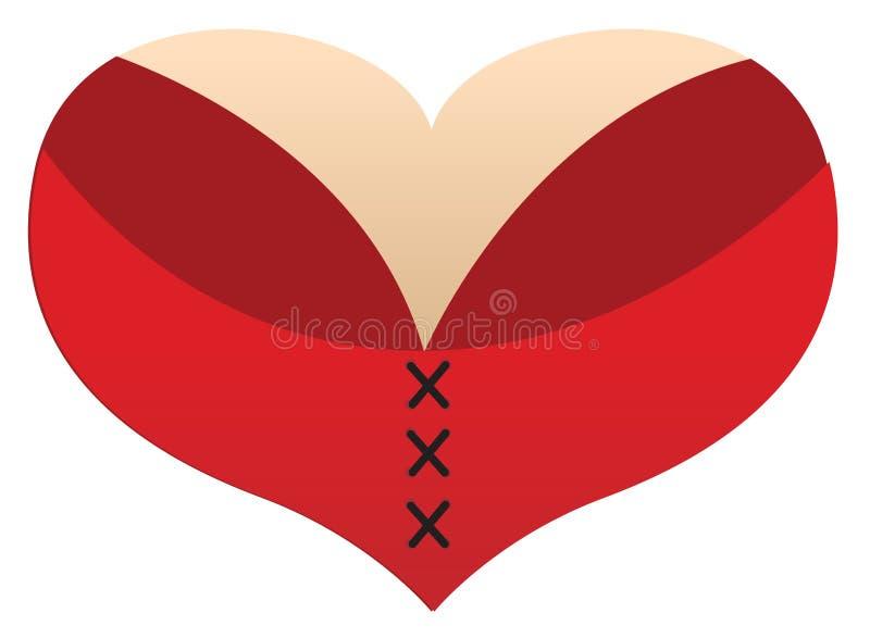 Line Art Love Heart : Love heart boobs stock illustration of letter