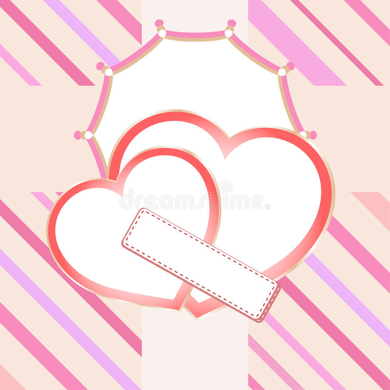 Download Love Heart In Bridal Valentine Cute Background Stock Vector - Image: 22722441