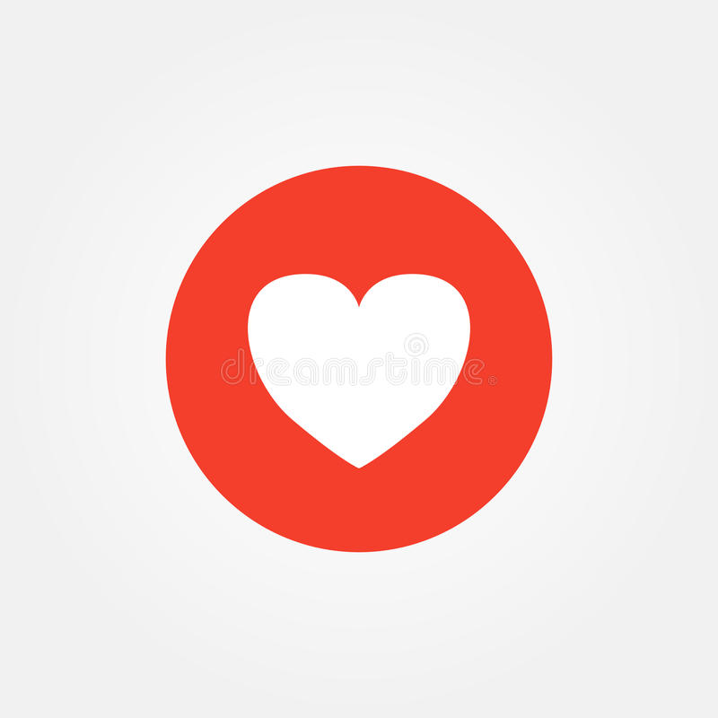 Love Heart Emoticon Vector Illustration Stock Vector Illustration