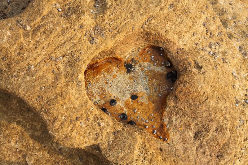 Love Heart eroded rock stock photo