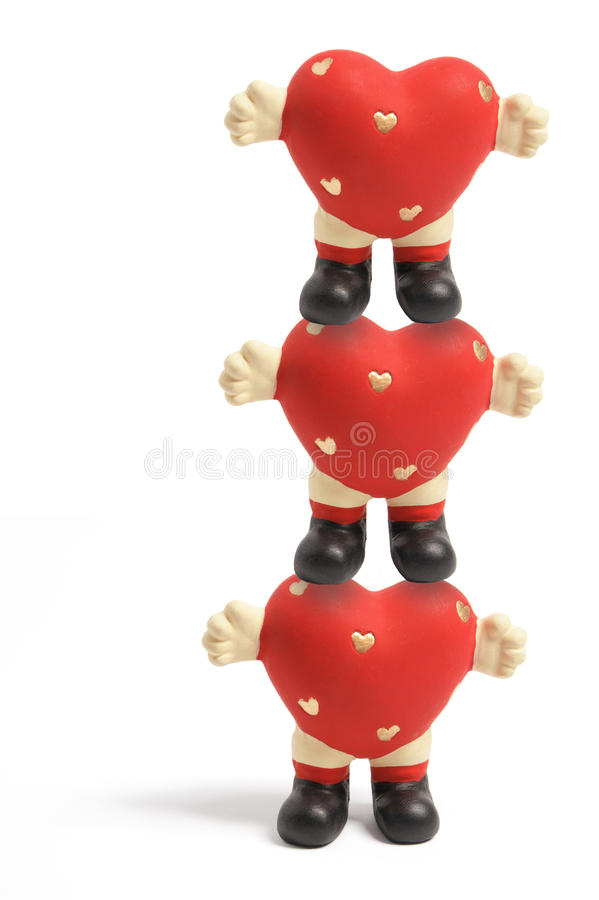 Download Love Heart Figurines stock photo. Image of ornament, hearts - 11962840