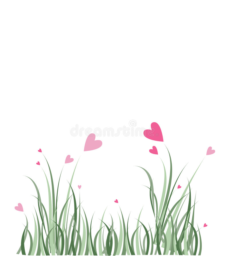 Love heart flowers royalty free stock image