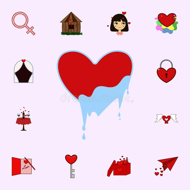 Love, heart, ice, valentine s day icon. Love icons universal set for web and mobile royalty free illustration