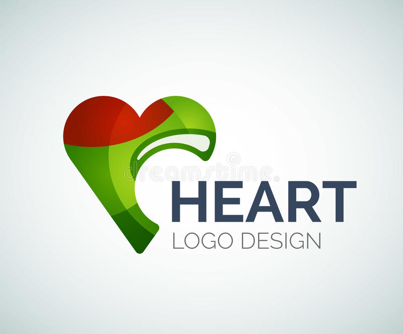 Love, heart, like, logo made of color pieces royalty free illustration