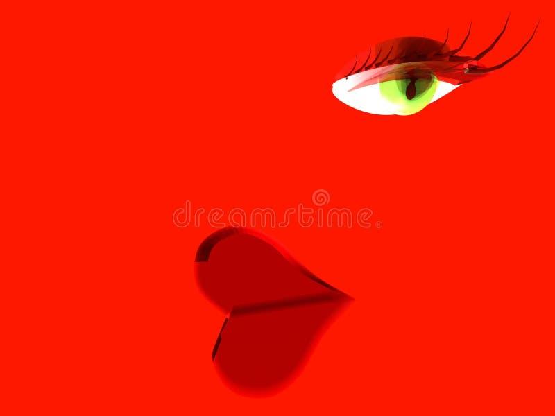 Love heart lips message stock image