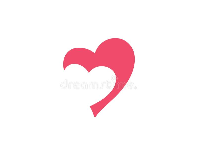 Love heart logo and template. Vector stock illustration