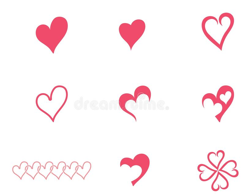 Love heart logo and template. Vector vector illustration