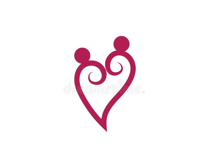 Love heart logo and template. Vector royalty free illustration