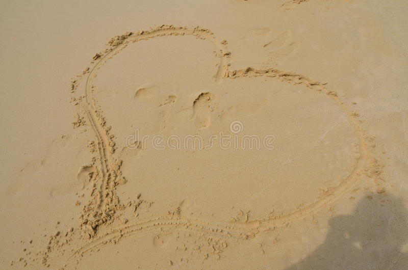 Love, heart, sea stock photo