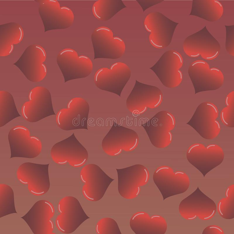 Love heart seamless pattern. vector royalty free illustration