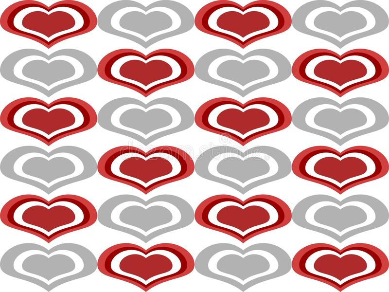 Download Love Heart Shapes Seamless Background Stock Vector - Image: 20189307