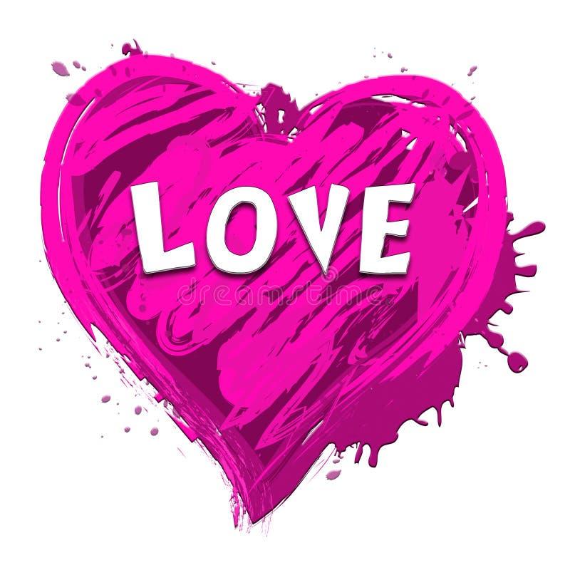 Love Heart Showing Valentine Romance 3d Illustration. Love Heart Design Showing Valentine Romance 3d Illustration royalty free illustration