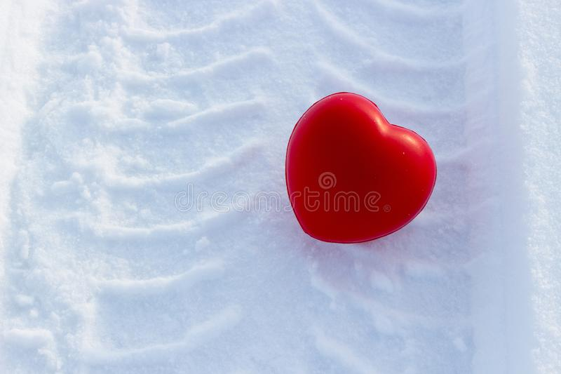 Love heart on Valentine day stock images