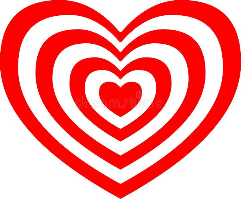 Love Heart. Valentine`s Day Concept Textured Heart Shape vector illustration