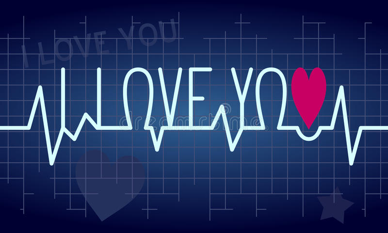Love Heartbeat Background vector illustration