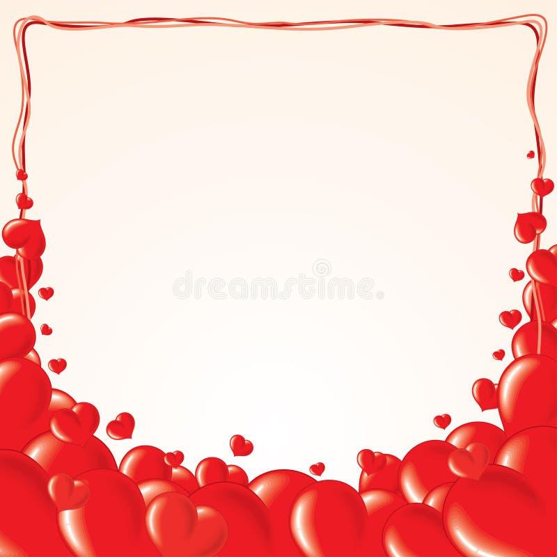 Love hearts vector illustration