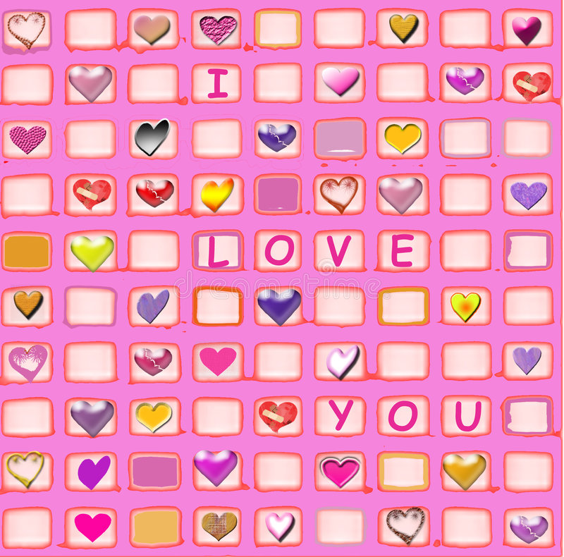 Love And Hearts Royalty Free Stock Photo