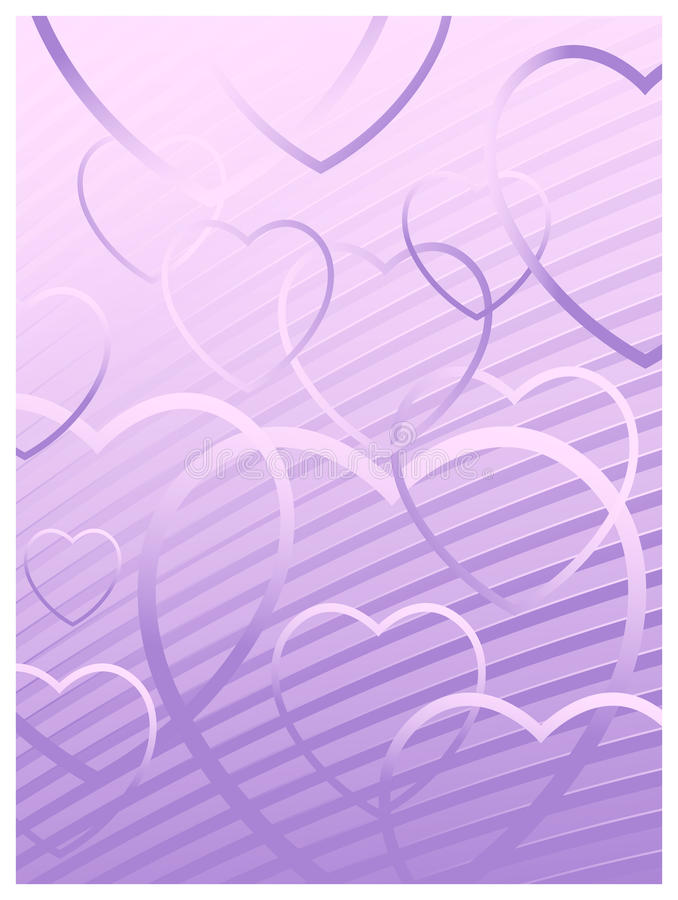 Love hearts background. A vector Love hearts background design royalty free illustration