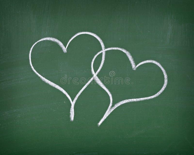 Download Love hearts on chalkboard stock photo. Image of feeling - 17741746