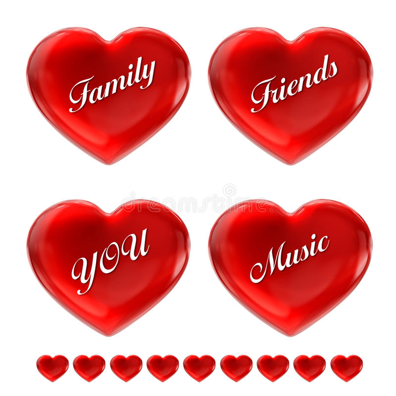 Love Hearts Collection Royalty Free Stock Photo