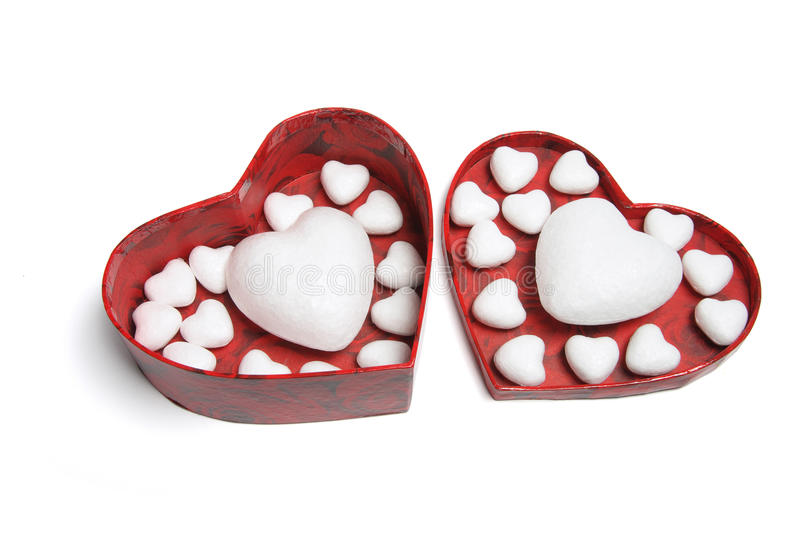 Love Hearts In Gift Box Stock Photography