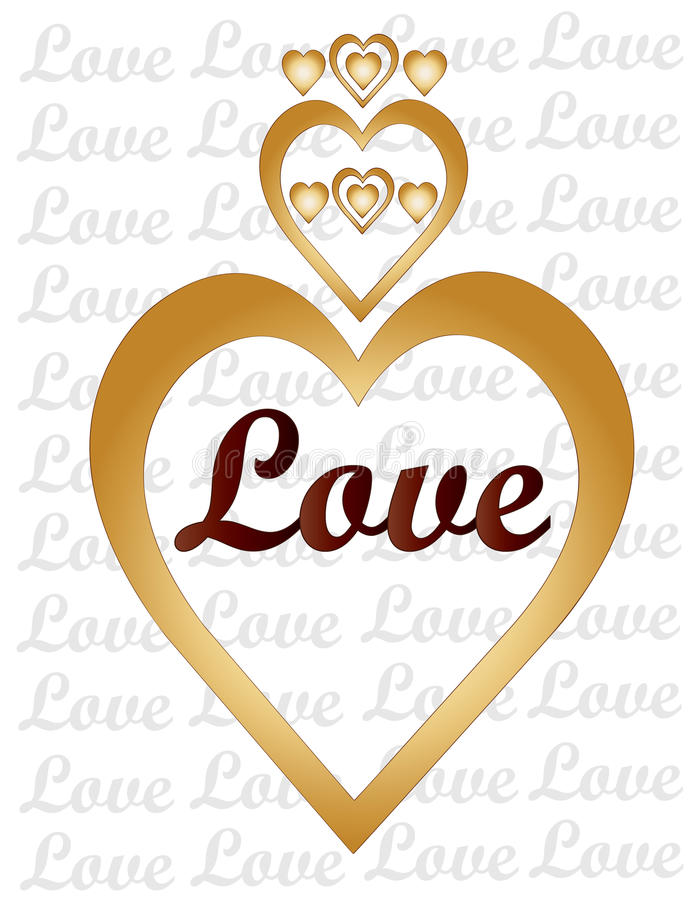 Love and Hearts stock illustration