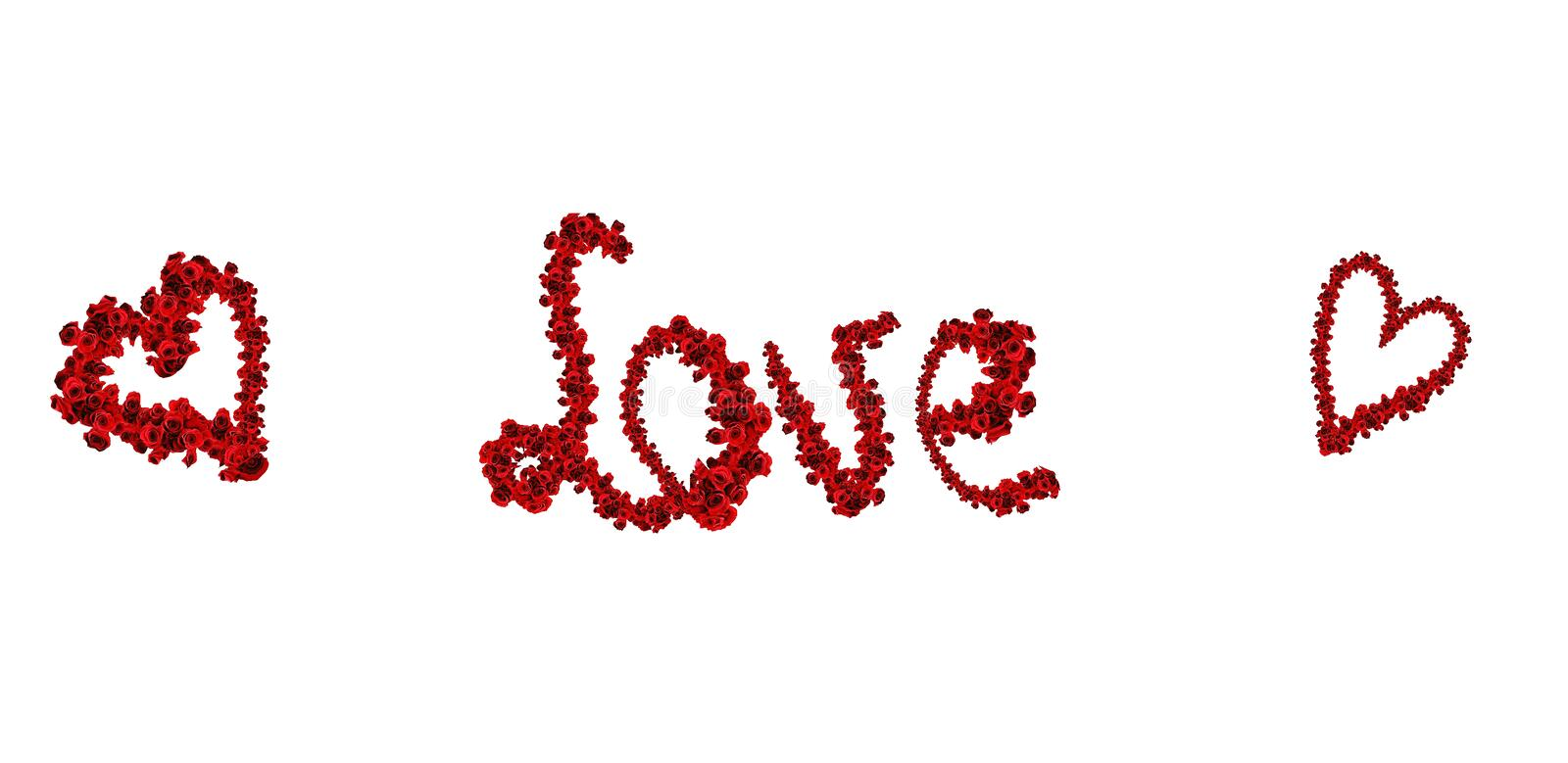 Download Love and hearts from roses stock image. Image of many - 12433325