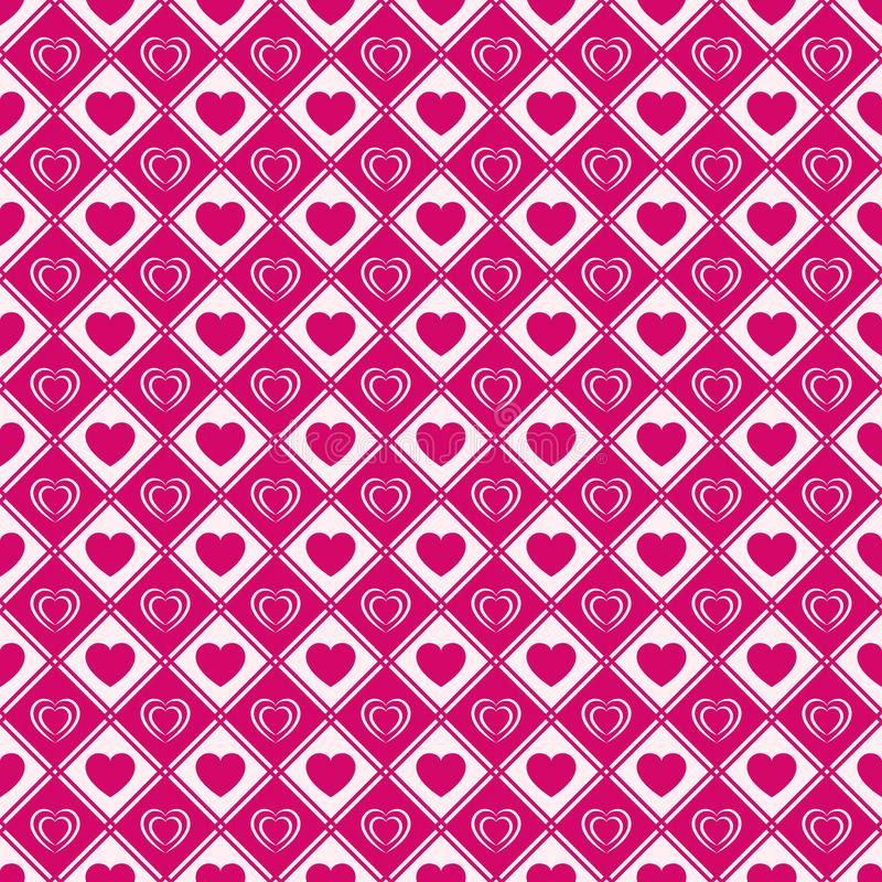 Love hearts seamless pattern. Valentine`s Day background. Romantic repeated texture for greeting cards, invitation and holiday royalty free illustration