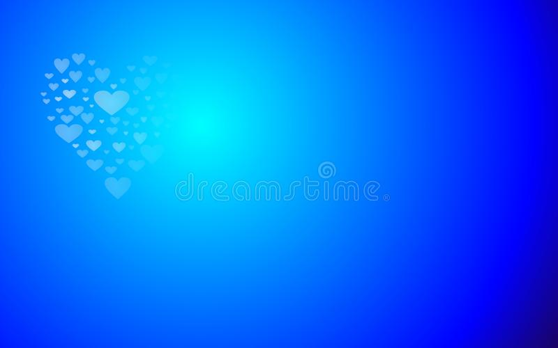 download love hearts shape blue light valentines day wallpaper stock vector illustration of greetings