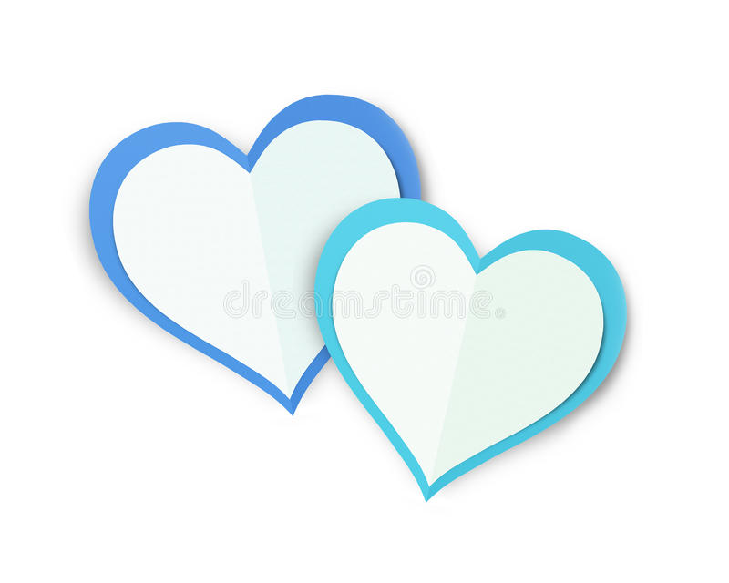 Love Hearts. Valentine`s Day Concept Love Hearts with White Background royalty free stock image