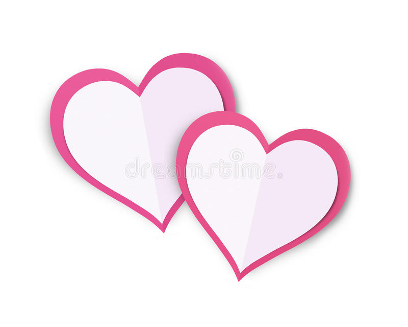 Love Hearts. Valentine`s Day Concept Love Hearts with White Background royalty free stock photography