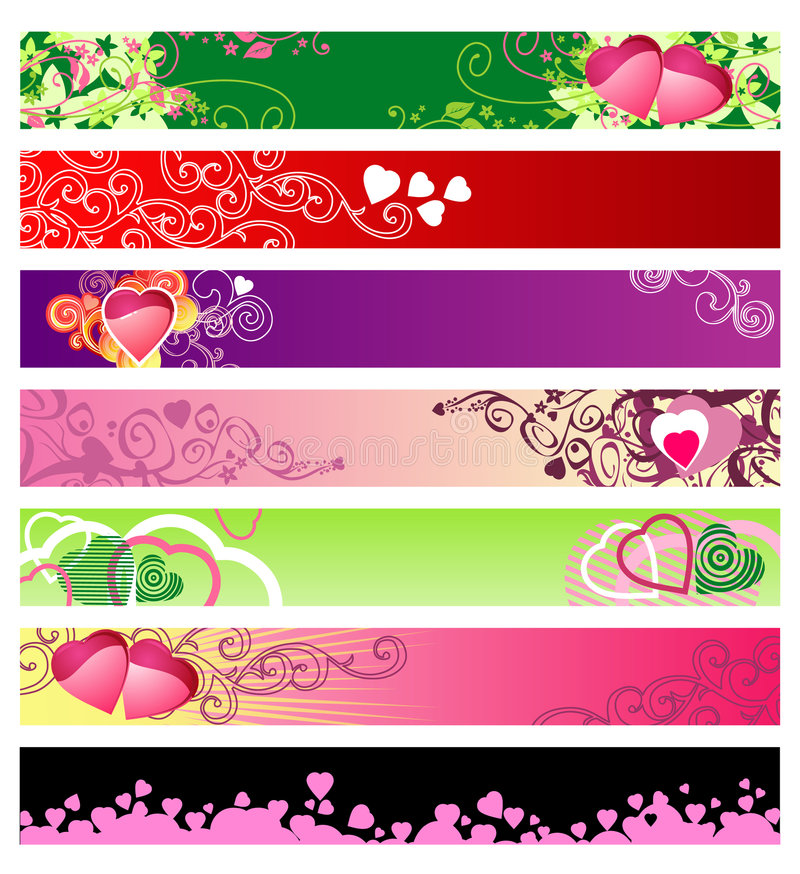 Download Love & Hearts Website Banners / Vector / Set #1 Stock Vector - Image: 4053307