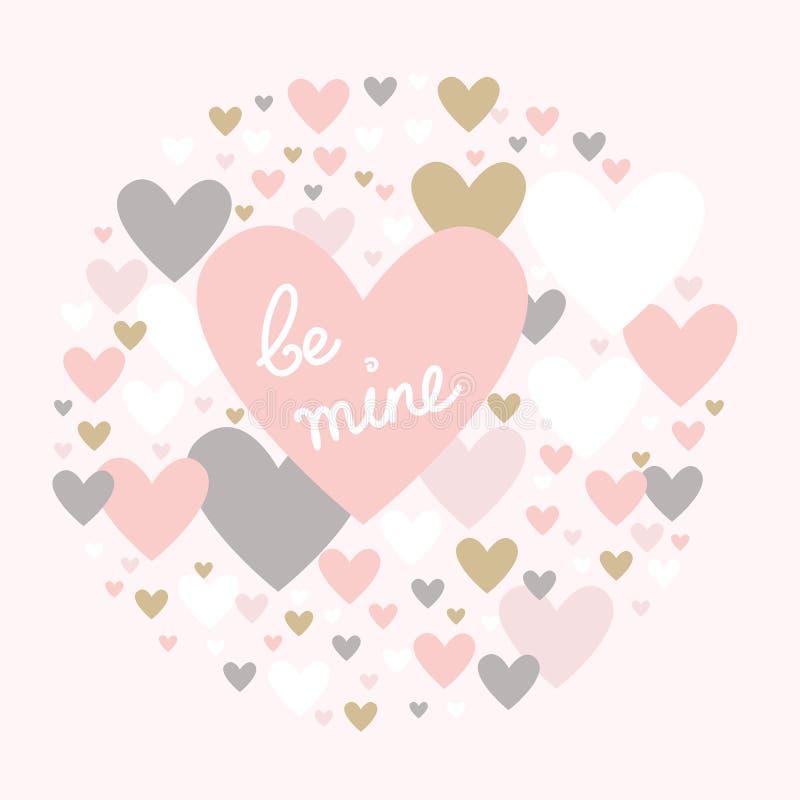 Love hearts for wedding valentine anniversary couple vector illustration