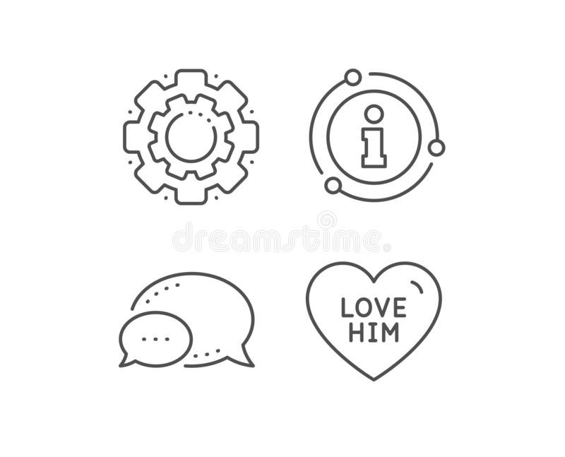 Love him line icon. Sweet heart sign. Valentine day. Vector stock illustration