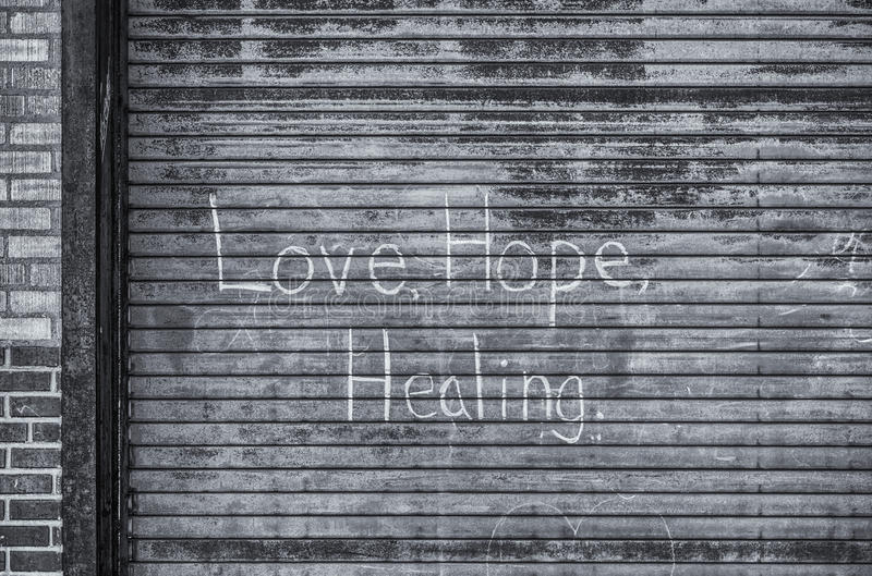 Love, Hope, Healing royalty free stock image