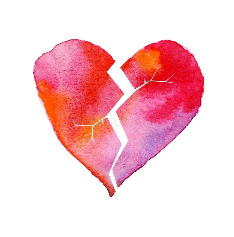 Download Love Hurt Concept With Artistic Watercolor Broken Heart Stock  Illustration   Illustration Of Deception,