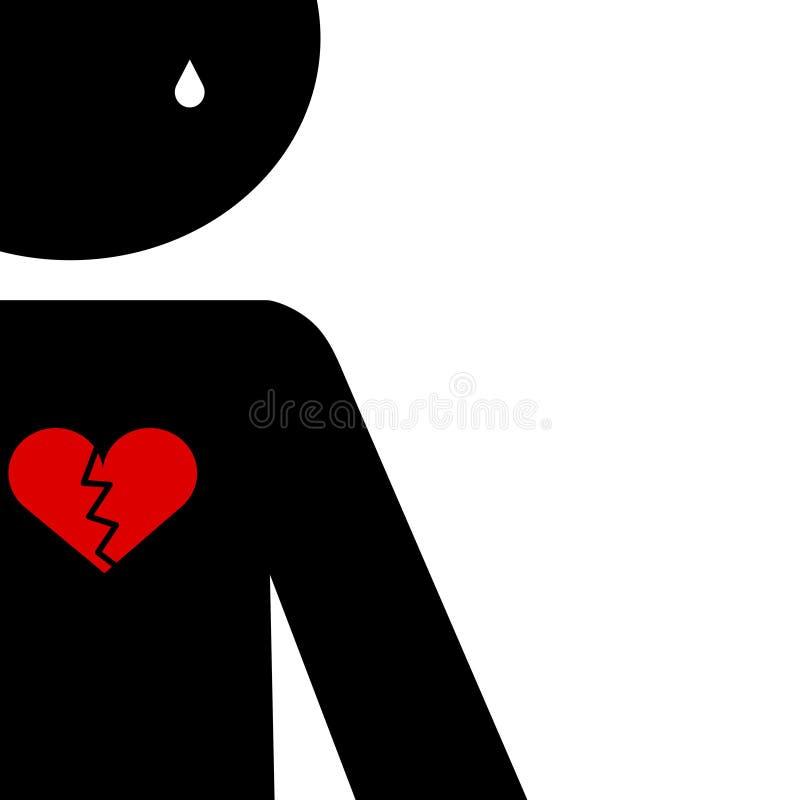 Download Love hurts stock illustration. Image of broken, backgrounds - 7168575