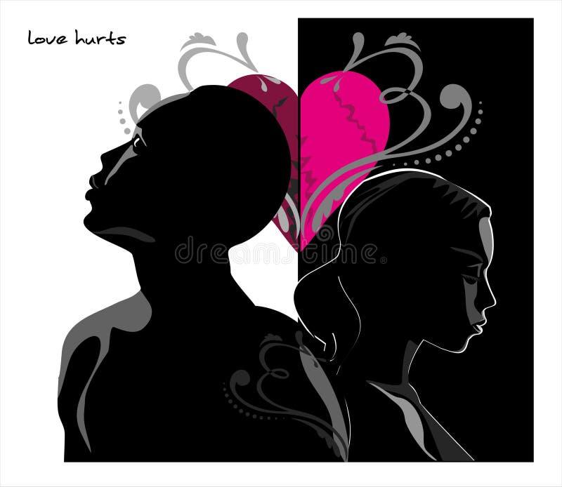 Love hurts royalty free illustration