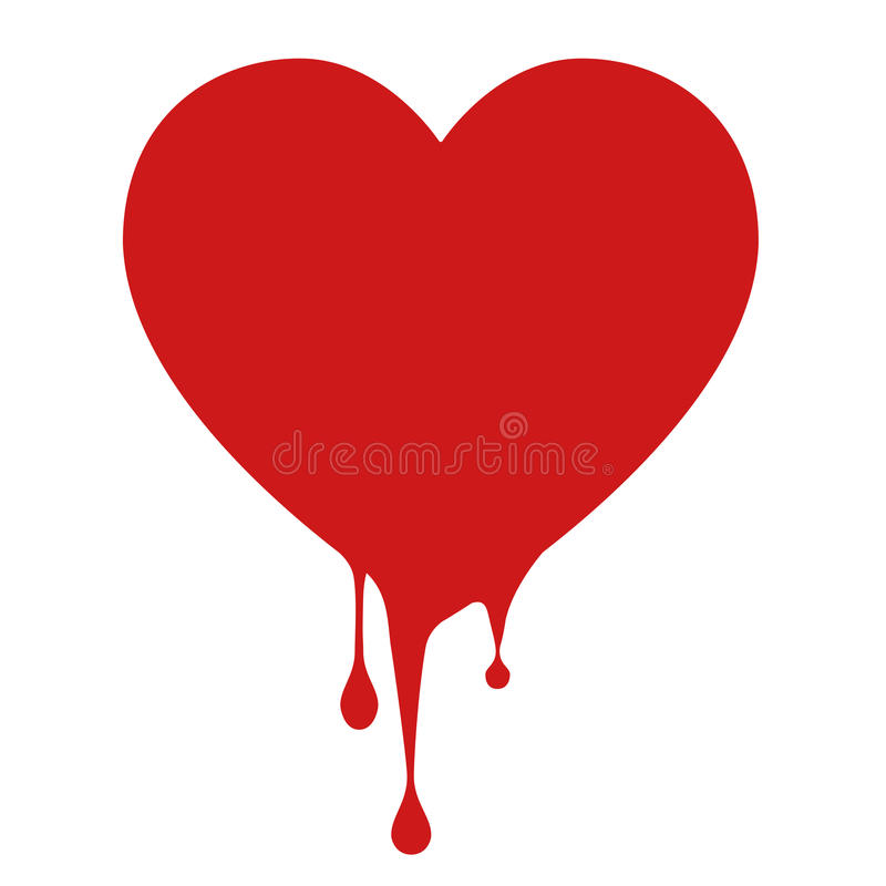 Love icon bleeding royalty free stock image