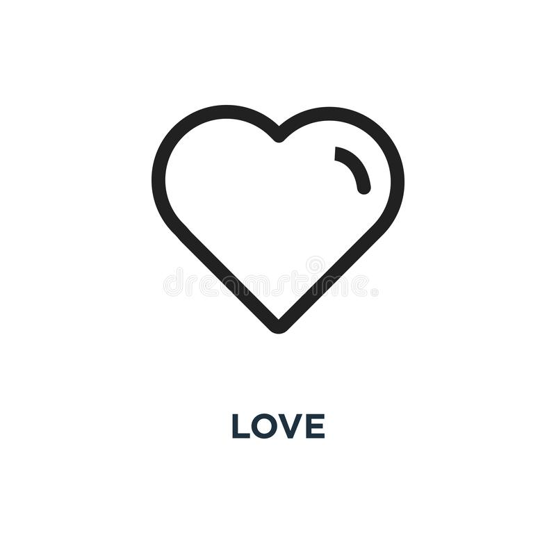 love icon. heart linear concept symbol design, vector illustrati stock illustration